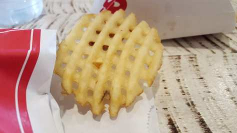 The unfortunate waffle frie from Chick-fil-A