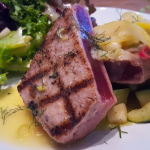 Tuna with Lemon Confit and Fennel from A Midsummer Night's Cooking in the Hamptons