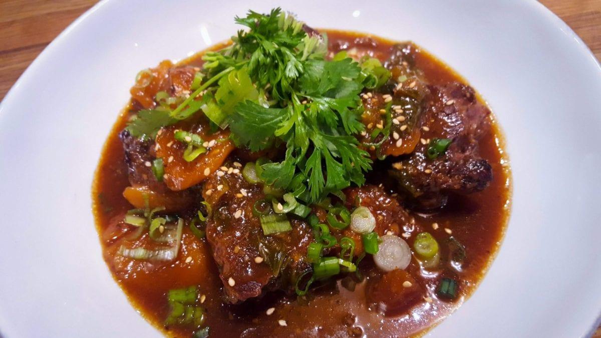 Kalbijjim--Korean-style beef stew with carrots, potatoes, onions, apples & rice cakes Hamptons Cooking