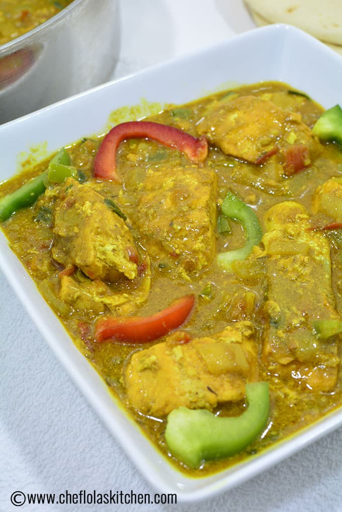 Close up Picture of Fish Curry served in a bowl
