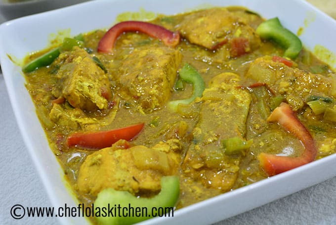 Curry Fish picture served in a bowl