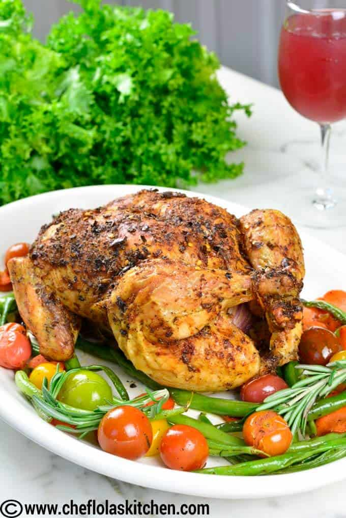 Well seasoned Whole Roast Chicken