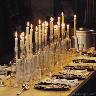 wine-bottle-candlestick-centerpiece