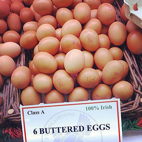 Buttered eggs at Cork Market, Ireland