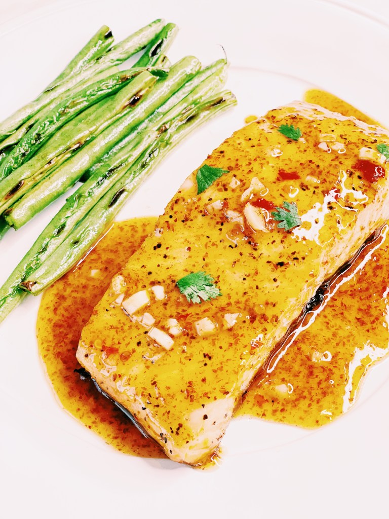 BBQ Grilled Salmon with Sweet Chili Lime Glaze
