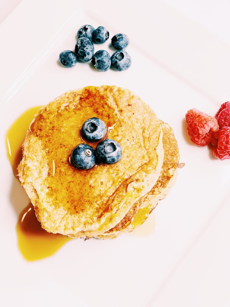 Protein Packed Blender Pancakes with Oats and Banana