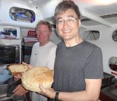 Jeff Wang and I baking on the way to Panama