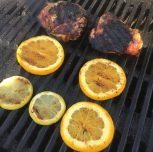 Grilling chicken and citrus