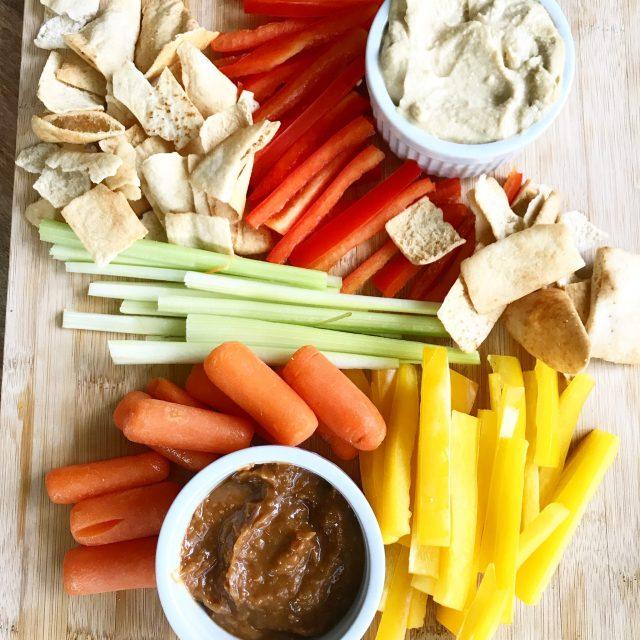 Hummus & Ginger Peanut Dip1