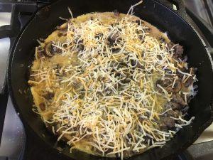 Sausage, Mushroom & Cheddar Frittata