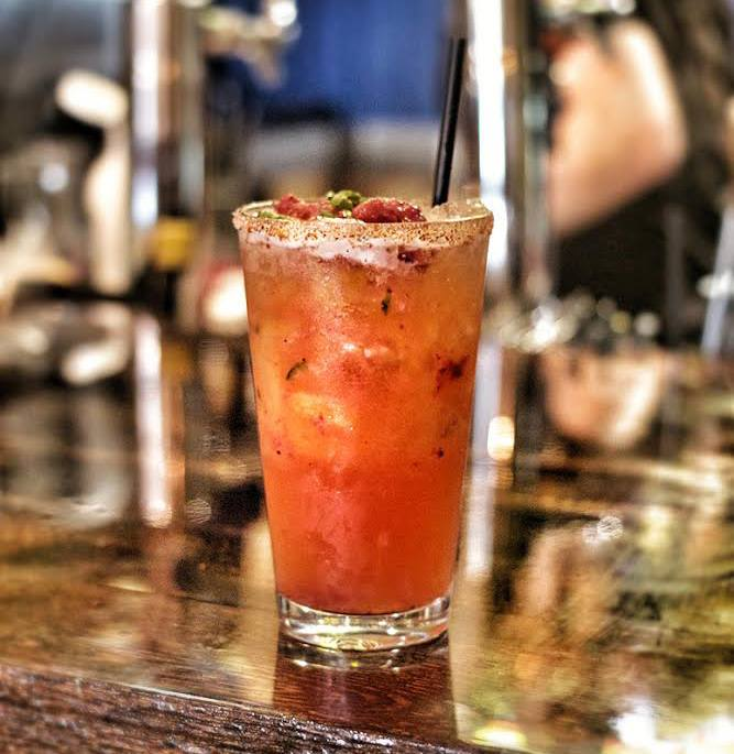 strawberry jalapeno margarita, chef rosie, provecho grill, latina chef, calimex food