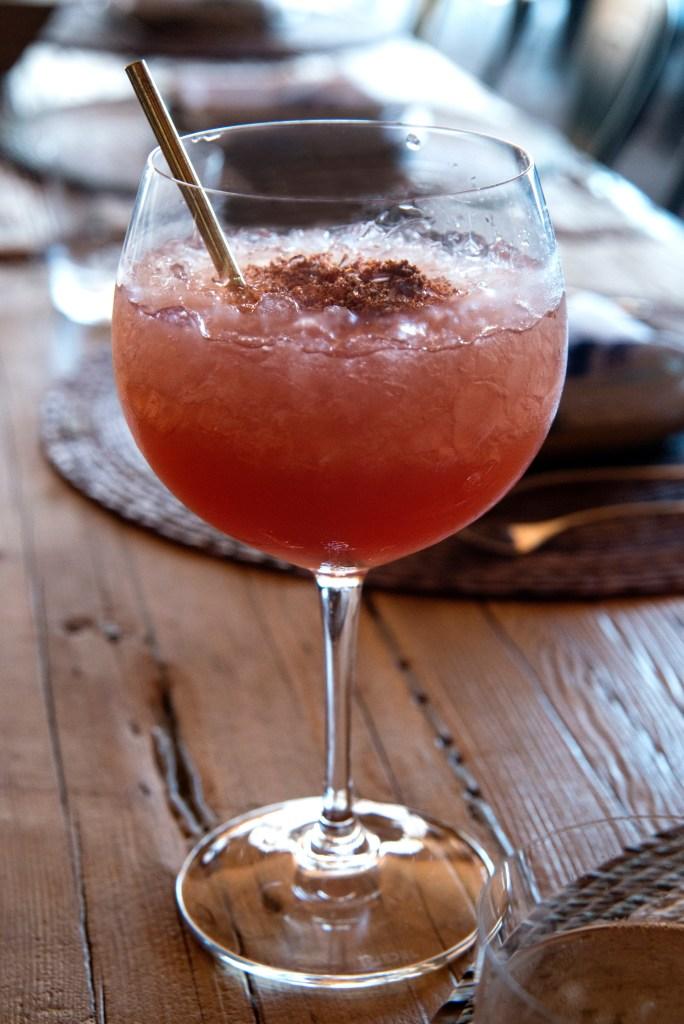 raspado de fauna cocktail, chef rosie, provecho grill, latina chef, calimex food