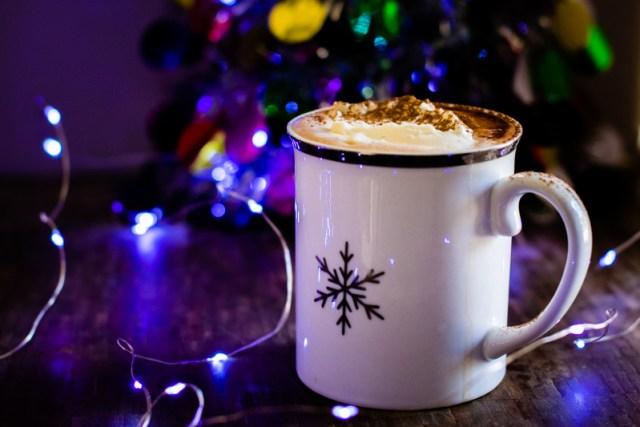 mug of hot cocoa with fresh whipped cream