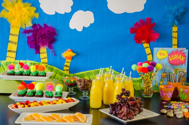 The Lorax theme party from ChefSarahElizabeth.com