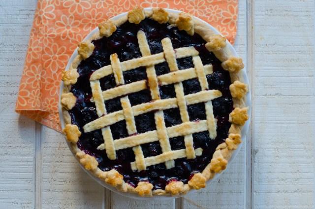 Blueberry Pie recipe from ChefSarahElizabeth.com