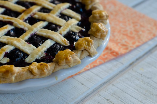 Blueberry Pie recipe from ChefSarahElizabeth.com