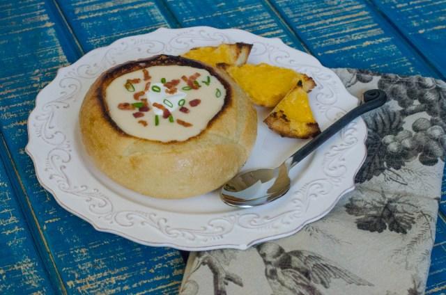 Potato Cheddar Soup recipe from ChefSarahElizabeth.com