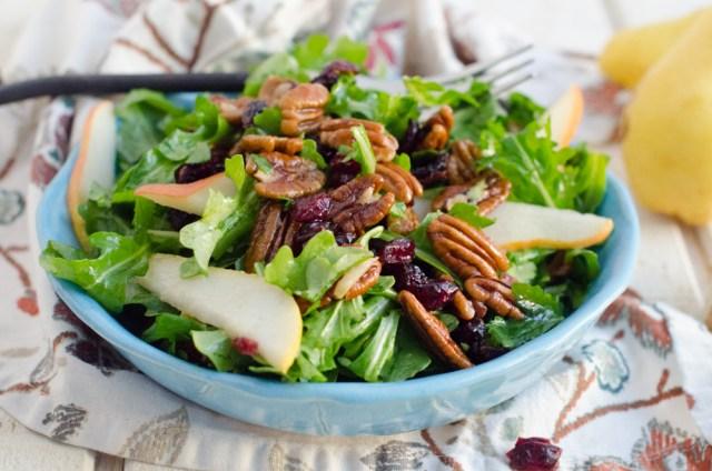 Ginger Pear Salad from ChefSarahElizabeth.com