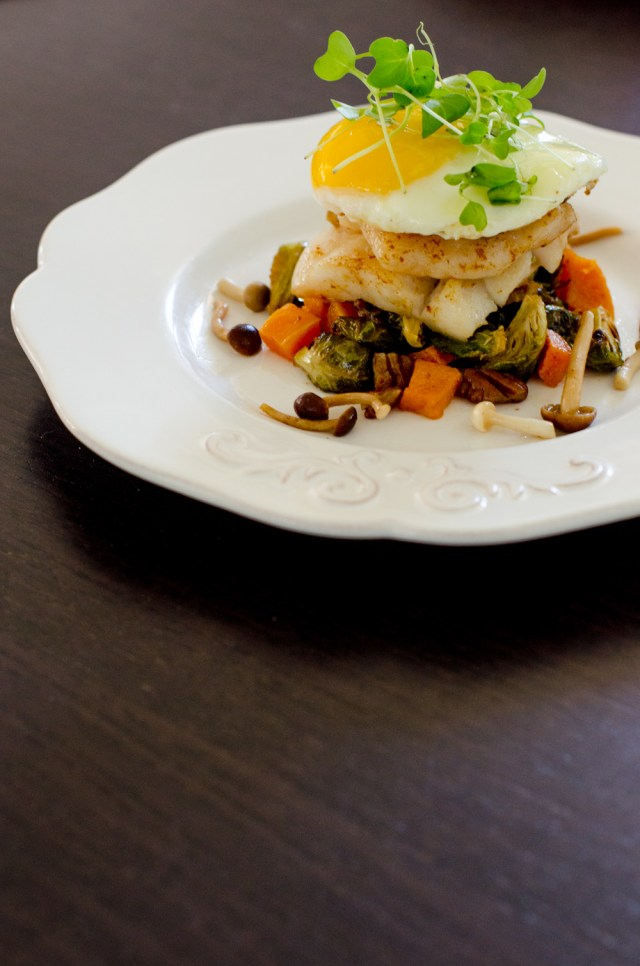 Butter-Poached Turbot recipe from ChefSarahElizabeth.com
