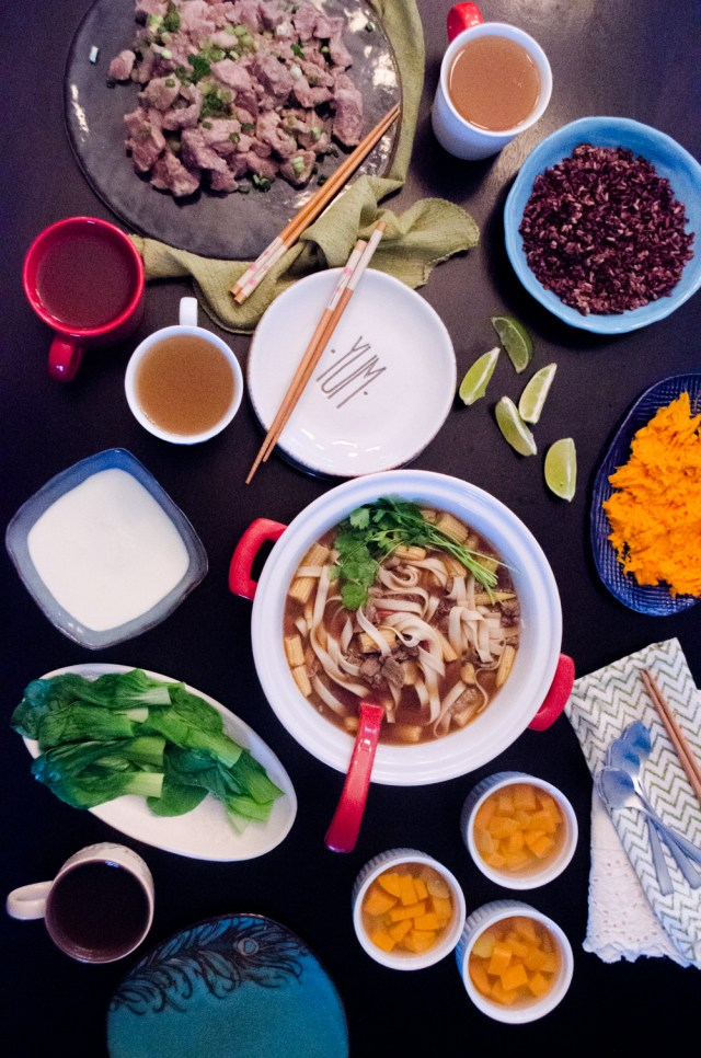 The Year of the Panda - Family Dinner Book Club menu from ChefSarahElizabeth.com