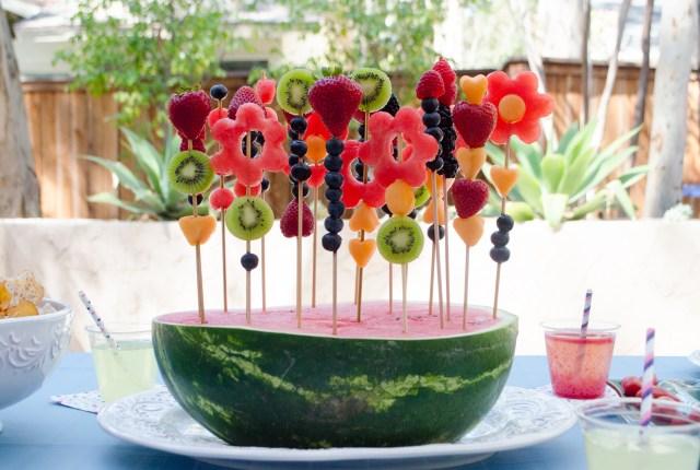 Watermelon Garden Centerpiece from ChefSarahElizabeth.com
