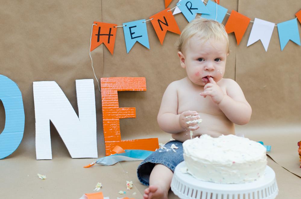 1st Birthday Smash Cake Chef Sarah Elizabeth