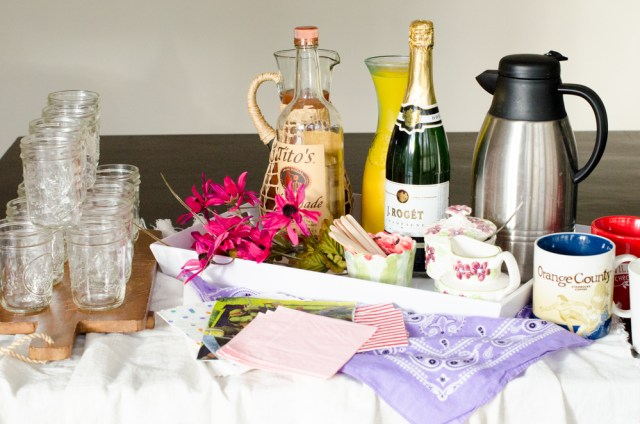 Rustic Brunch Beverage Station from ChefSarahElizabeth.com