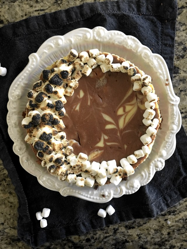 S'mores Cheesecake from ChefSarahElizabeth.com
