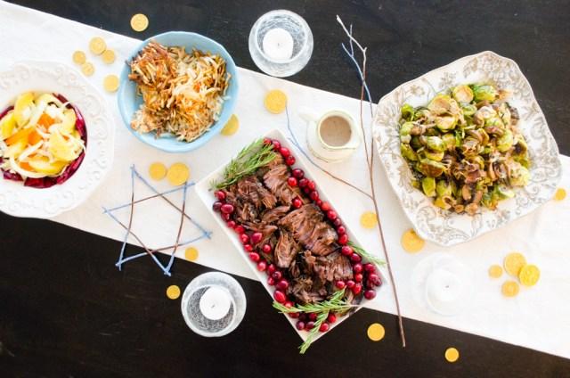 Hanukkah Menu 2017 from ChefSarahElizabeth.com
