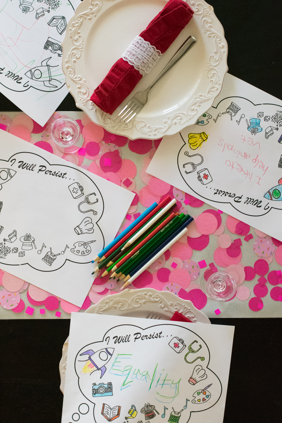 She Persisted - Tablescape - Chef Sarah Elizabeth