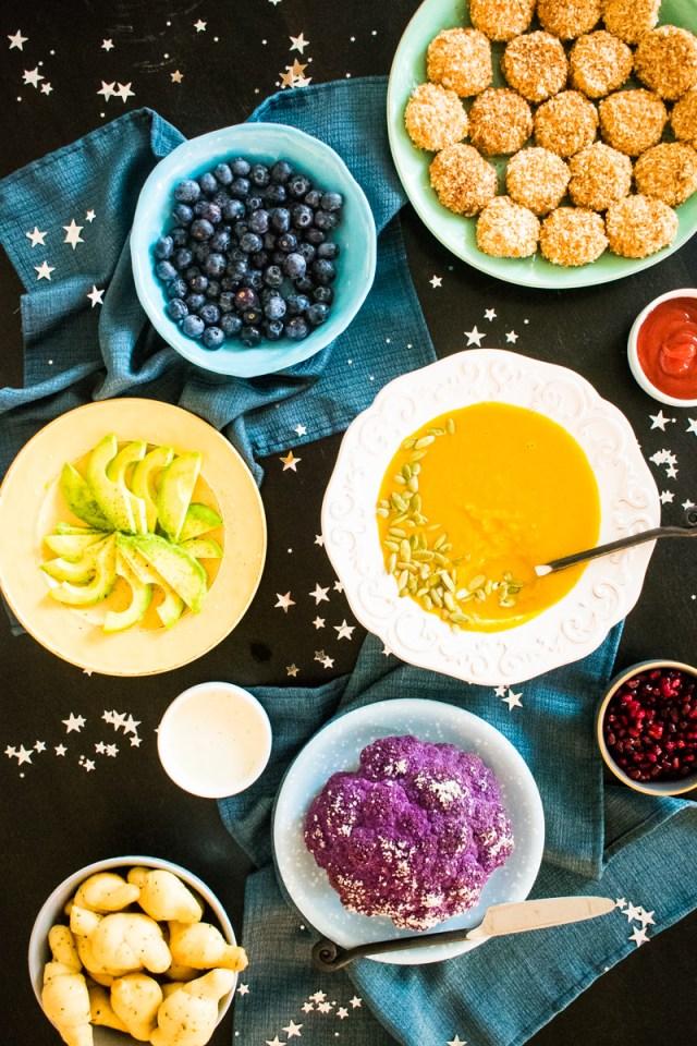 We're All Wonders dinner menu from ChefSarahElizabeth.com