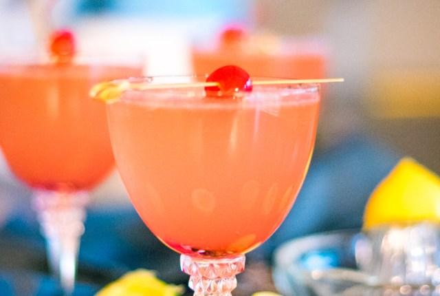 Sparkling Cherry Lemonade recipe from ChefSarahElizabeth.com