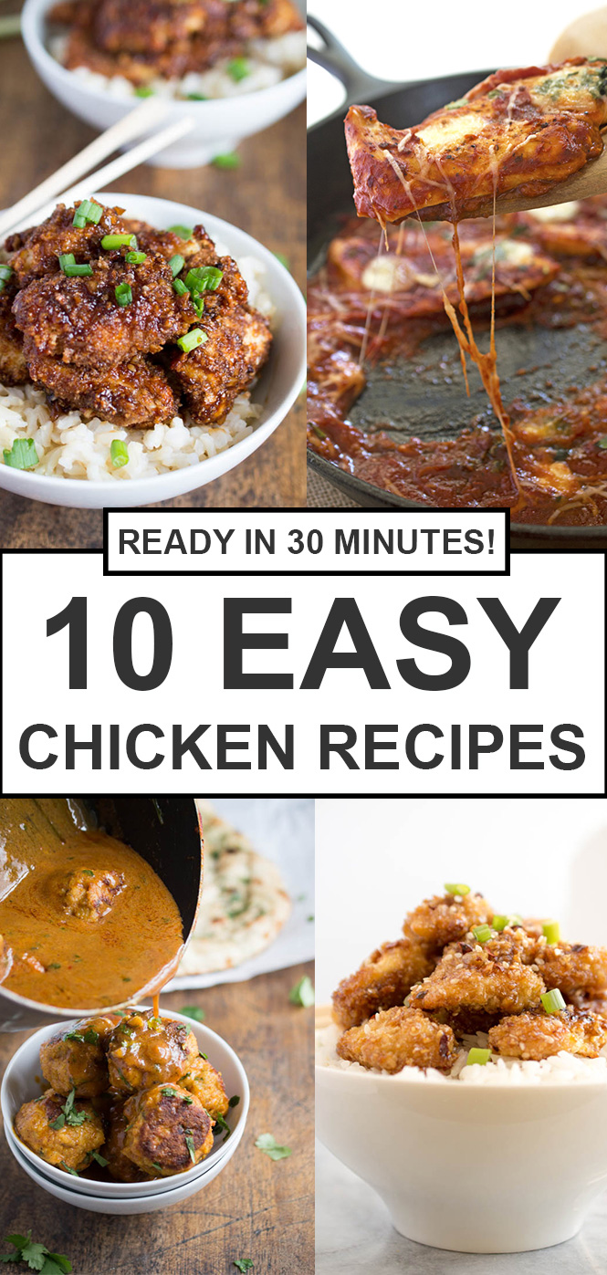 10 Quick and Easy Chicken Recipes | chefsavvy.com