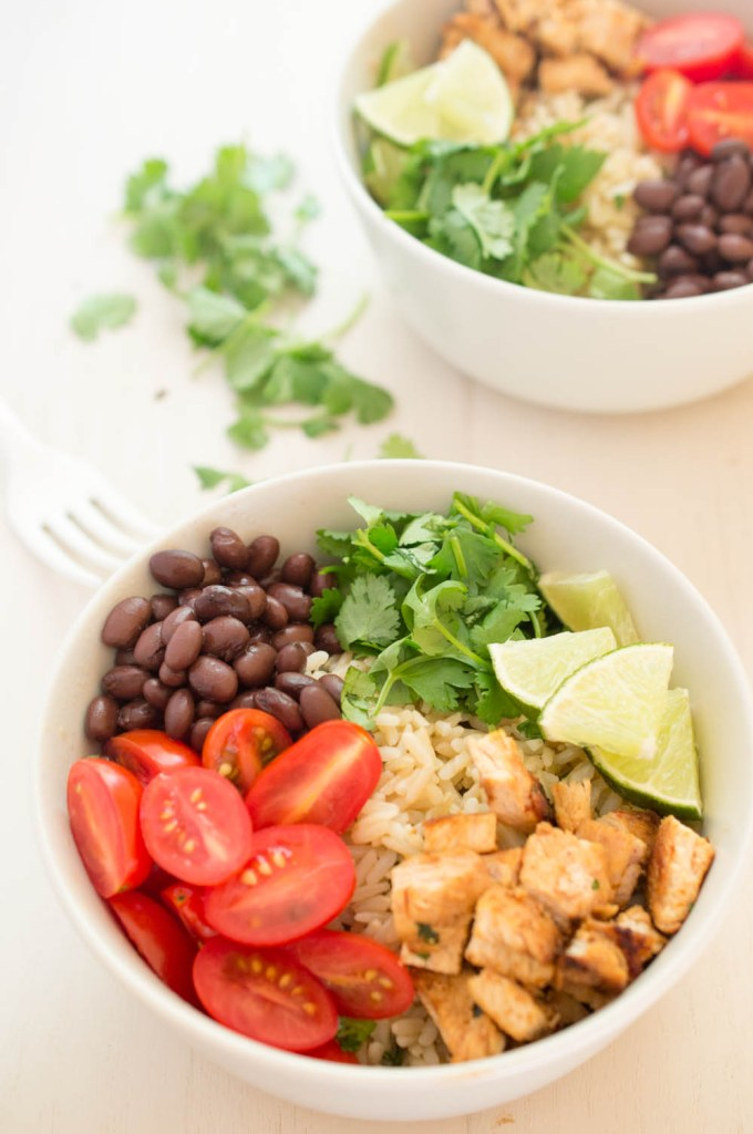 Healthy Chicken Burrito Bowl