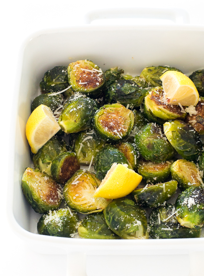 30 Minute Roasted Garlic Brussels Sprouts | chefsavvy.com