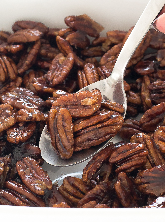 Maple Candied Pecans | chefsavvy.com