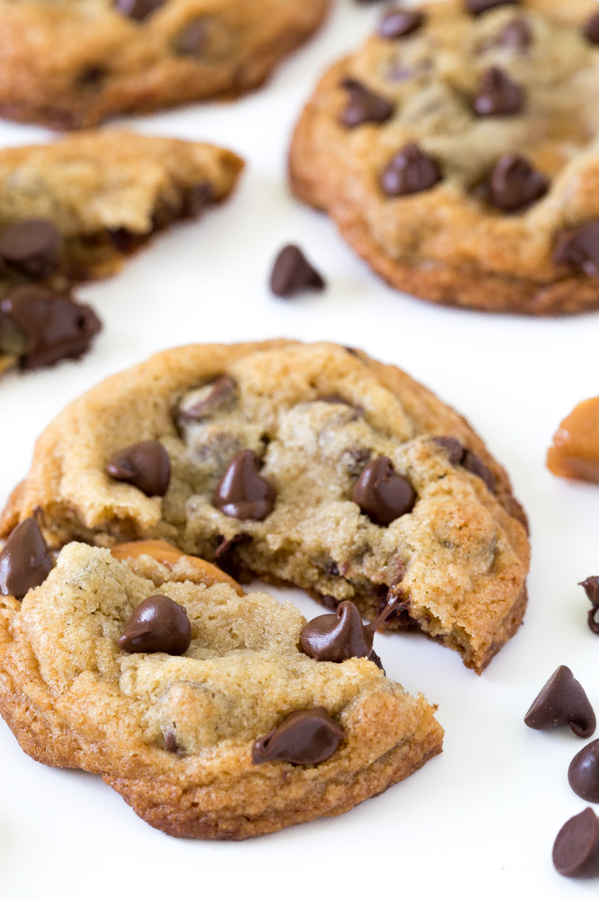 The BEST Caramel Chocolate Chip Cookies | chefsavvy.com
