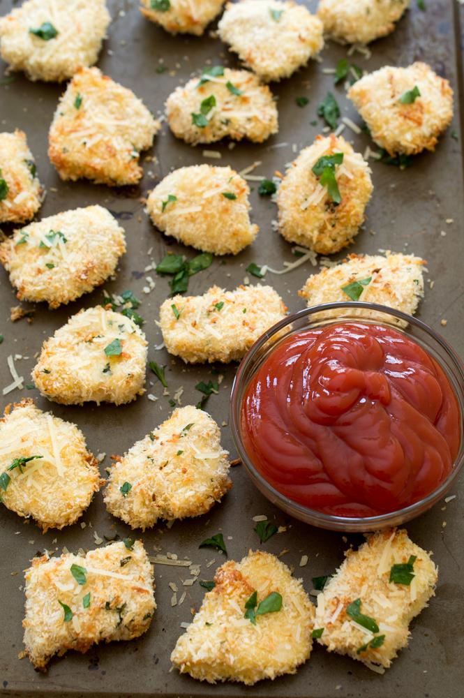 Crispy Parmesan Chicken Bites | chefsavvy.com