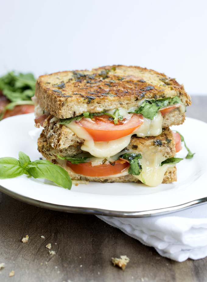 Italian BLT Grilled Cheese | chefsavvy.com #recipe #sandwich #Italian #cheese