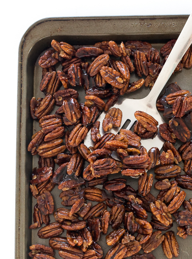 Easy Candied Maple Pecans | chefsavvy.com