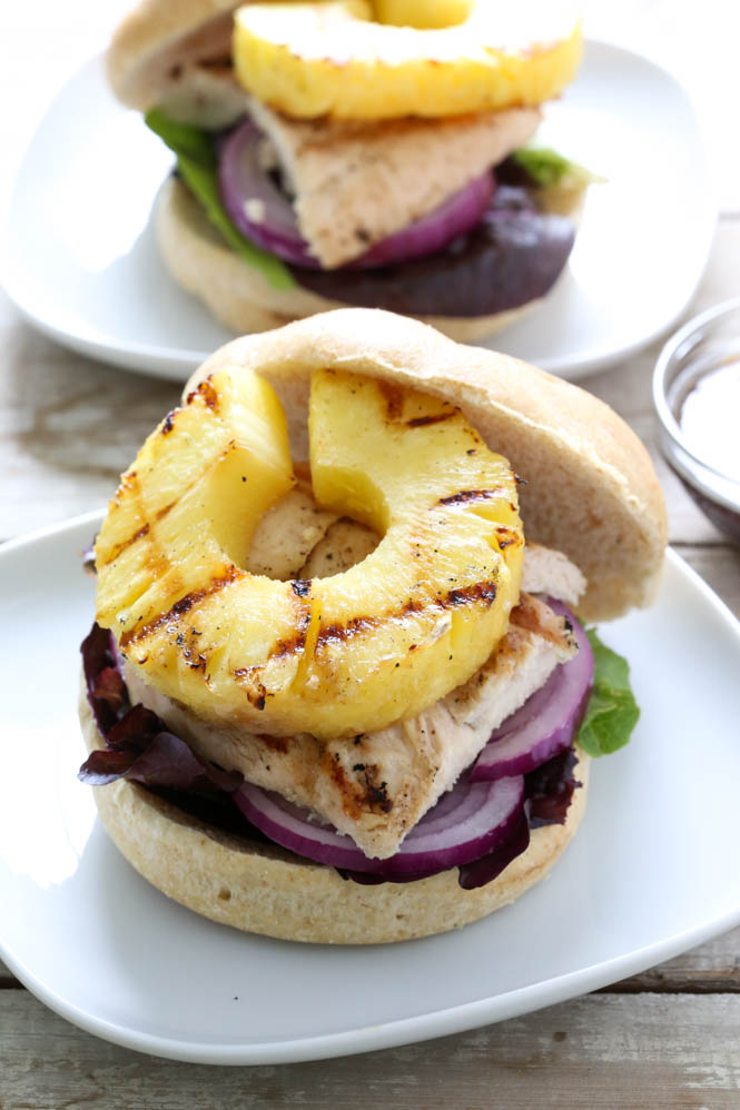 Grilled Hawaiian Chicken Sandwich