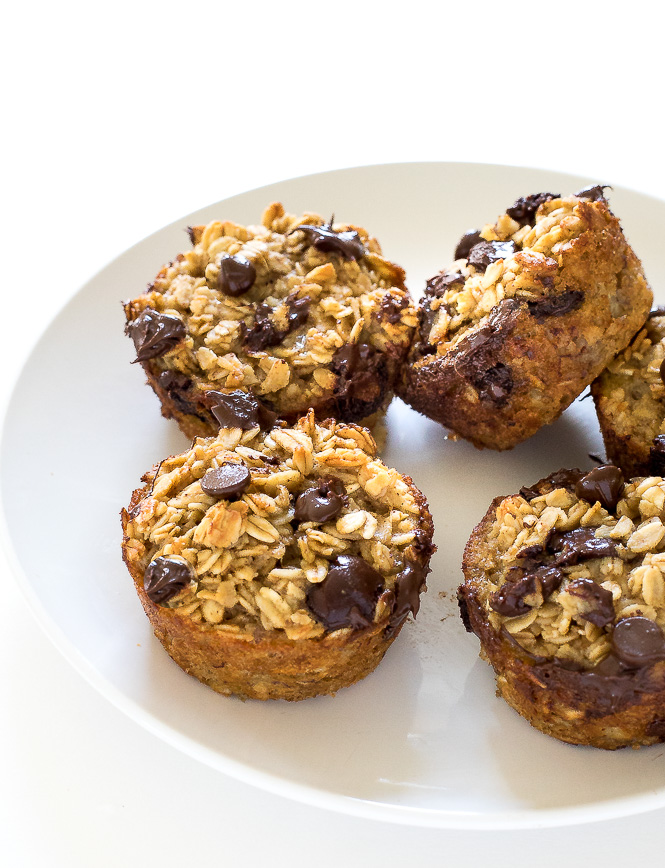 Chocolate Chip Oatmeal Muffins | chefsavvy.com