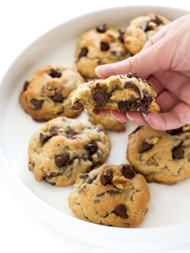 Levian Bakery Style Chocolate Chip Walnut Cookies | chefsavvy.com