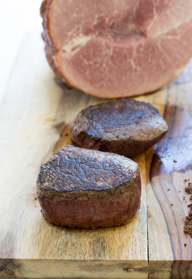 Pan-Seared Ribeye Filets with Espresso Sea Salt | chefsavvy.com #recipe #meat #beef #filets