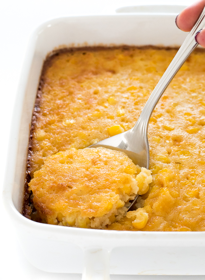 The BEST Corn Pudding | chefsavvy.com