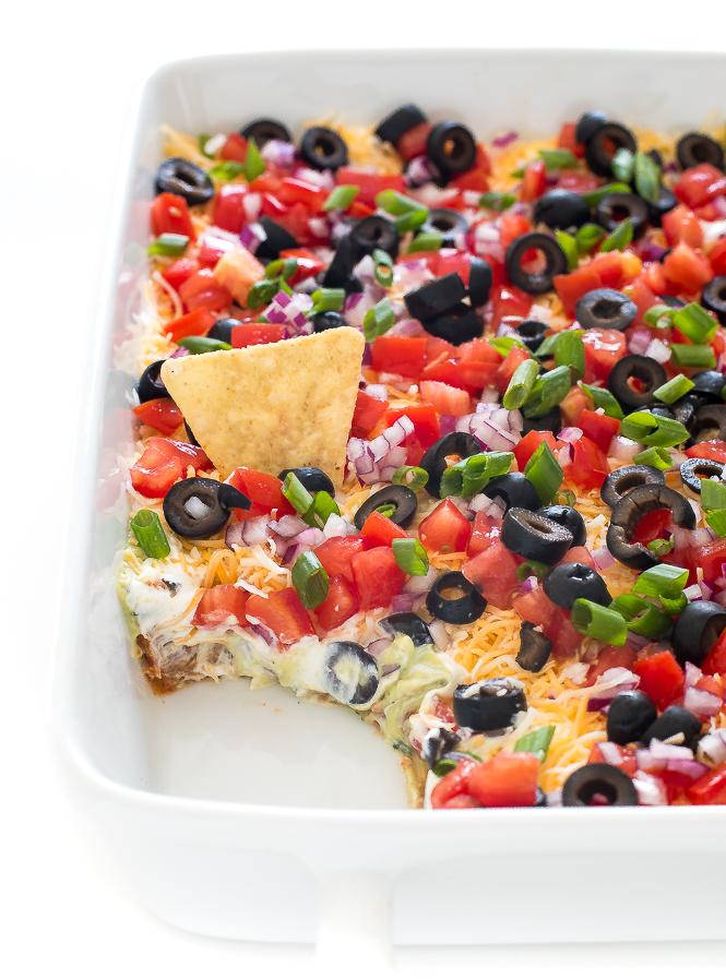Easy 7 Layer Dip | chefsavvy.com