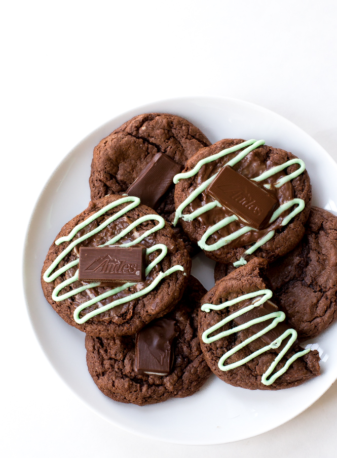Devils Food Andes Mint Cookies | chefsavvy.com