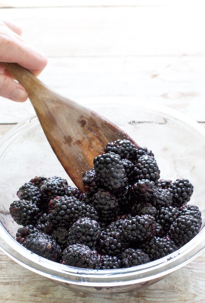 Fresh blackberries tossed in sugar and lemon juice | chefsavvy.com