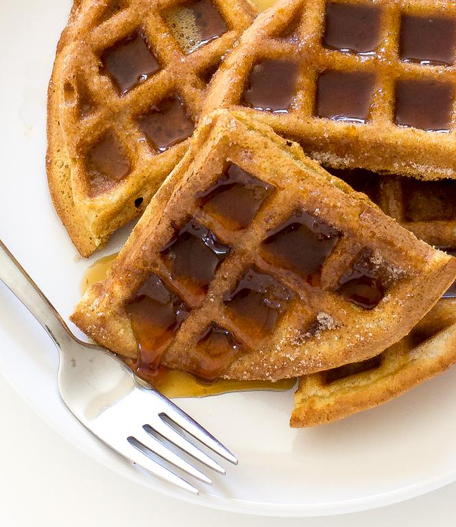 Easy Churro Waffles | chefsavvy.com