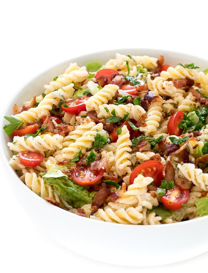 BLT Pasta Salad | chefsavvy.com